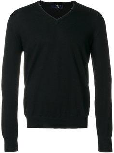 пуловер с V-образной горловиной Fay