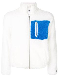 куртка из овечьей шерсти на молнии с заплаткой Champion