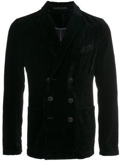 вельветовый двубортный пиджак Giorgio Armani