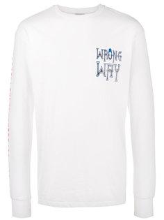 футболка с длинными рукавами с принтом Wrong Way Ex Infinitas