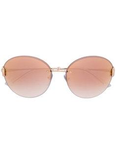 круглые солнцезащитные очки без оправы Bulgari