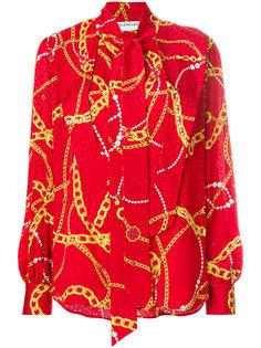 блузка с принтом цепочек Lavalliere Balenciaga