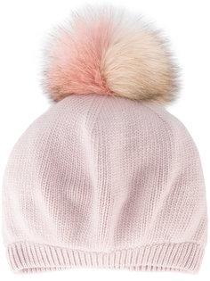 шапка с помпоном из лисьего меха Miu Miu