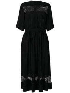 платье с кружевными вставками Rochas