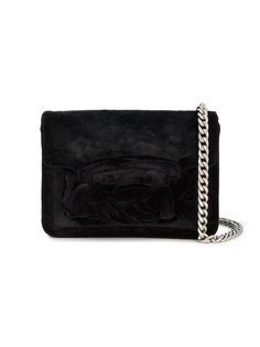 маленькая бархатная квадратная сумка Miu Miu