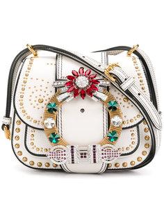 сумка Dalia с украшением из кристаллов Miu Miu