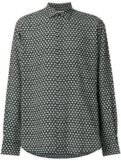 объемная рубашка с принтом Saint Laurent