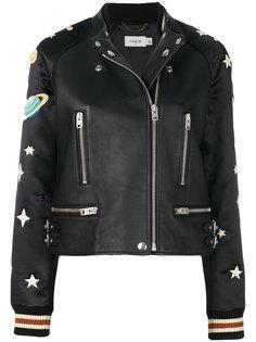куртка с заплатками Solar system Coach