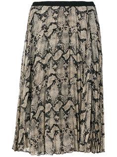 плиссированная юбка со змеиным принтом By Malene Birger