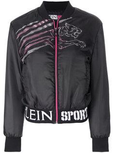 куртка-бомбер с принтом тигра  Plein Sport