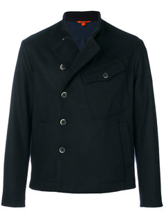 приталенное двубортное пальто Barena