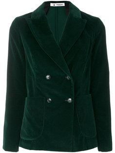 бархатный двубортный пиджак Barena