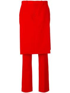 строгие брюки с верхним слоем в виде юбки  Givenchy