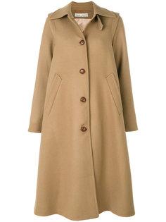 длинное пальто со складками  Veronique Branquinho