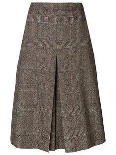 твидовая юбка со складками  Veronique Branquinho