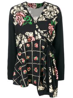 блузка на завязке с цветочным принтом IM Isola Marras