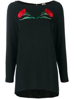 блузка асимметричного кроя с принтом IM Isola Marras