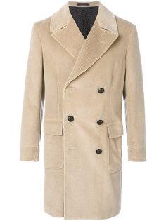 вельветовое двубортное пальто The Gigi