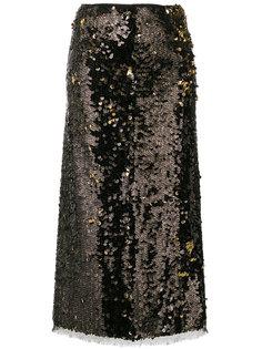 юбка-карандаш с пайетками Sasha Rejina Pyo