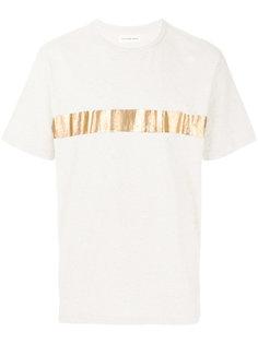 футболка с золотистой полоской Universal Works