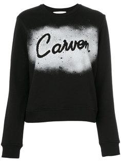 толстовка с логотипом и эффектом краски  Carven
