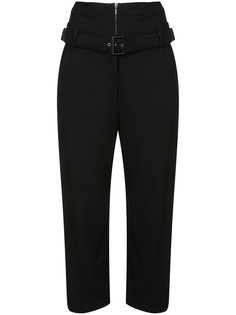 double waist cropped trousers Osklen