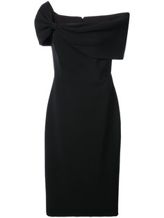 платье с асимметричным вырезом Christian Siriano