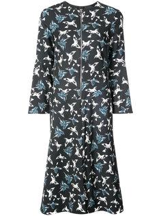 платье на молнии с расклешенными рукавами Christian Siriano