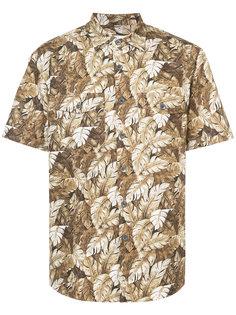 рубашка с лиственным принтом Julien David