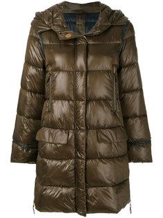 дутое пальто с капюшоном  Luisa Cerano