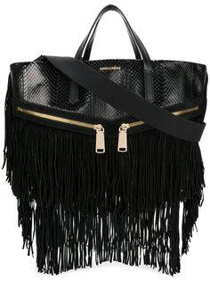 сумка-тоут с бахромой Dsquared2