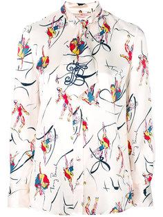 блузка с принтом Dancer Tory Burch