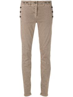 джинсы скинни со вставками  Luisa Cerano