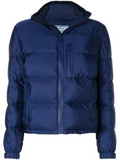 дутая куртка на молнии  Prada