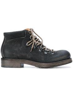 массивные ботинки на шнуровке Del Carlo