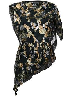 блузка с люрексом и драпировкой  Peter Pilotto