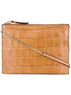 сумка через плечо с эффектом крокодиловой кожи DKNY