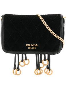 сумка через плечо с металлическими кольцами Prada