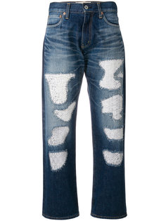 ripped cropped jeans  Junya Watanabe Comme Des Garçons
