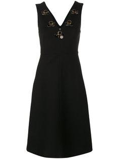 платье с V-образным вырезом и отделкой  Dorothee Schumacher