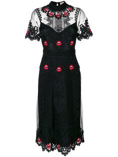 платье Leaf Midi Temperley London