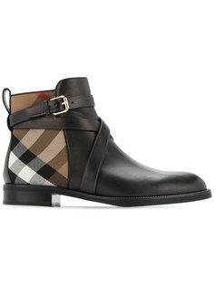 ботинки с фирменной клеткой House check Burberry