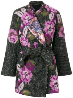 пальто-накидка с цветочным рисунком Ermanno Gallamini