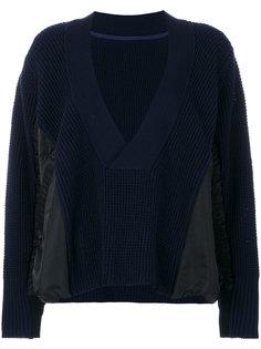 свитер с V-образным вырезом Sacai