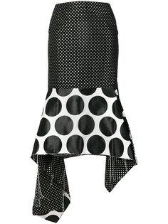 асимметричная юбка в горох Marquesalmeida