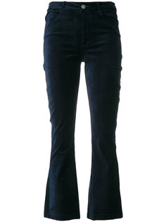 укороченные бархатные брюки Paige