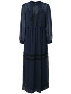 длинное платье с рюшами P.A.R.O.S.H.