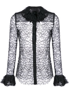 lace and frill shirt Anna Sui
