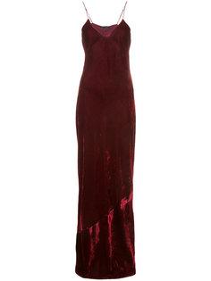 бархатное вечернее платье Sasha Nili Lotan