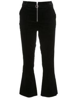 расклешенные брюки с засежкой-молнией Frame Denim
